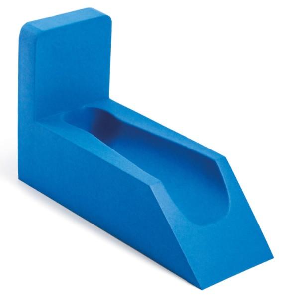 Beinhochlagerungsschiene 45º breite Form in Skinfoam blau