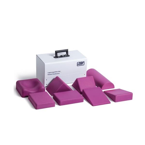 Lagerungshilfenset 8-teilig Komplett mit Kunststoffkoffer