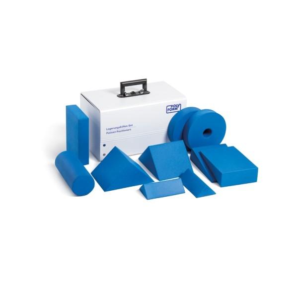 Lagerungshilfenset 10-teilig Komplett mit Kunststoffkoffer